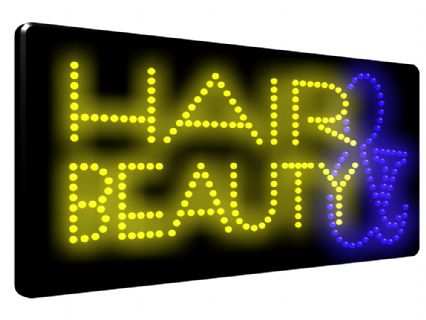 HAIR & BEAUTY LED SIGN (LED2)